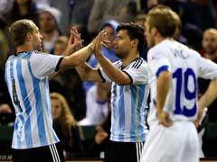 视频集锦-阿圭罗2球+报复对手 阿根廷2-0波黑