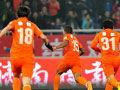 视频集锦-乌索折射变线绝杀 山东主场1-0哈尔滨