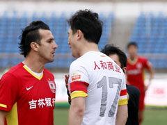 视频集锦-于海疑似手球未判 长春主场0-0贵州