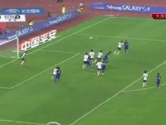 进球视频-陈涛任意球吊禁区 巴克曼头球破僵局