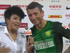 视频-马5爷赛后爆笑采访:国安球迷最棒 我心绿色