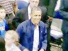视频-梦十热身赛奥巴马到场助阵 球员起立全场鼓掌