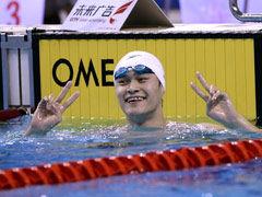 视频-直击孙杨1500米夺冠 与外套较劲摘金卖萌