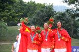 高尔夫女团中国夺银牌