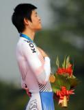 男子公路计时韩国队员夺冠