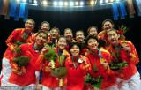 女排中国队夺冠