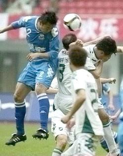 浙江喜获08赛季首粒进球客场1比1平长沙终结三连败