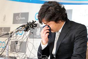 韩国小贝安贞焕正式宣布退役发布会潸然泪下(图)