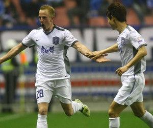 中超-阿尔斯爆射申花0-1职业联赛史主场首负泰达