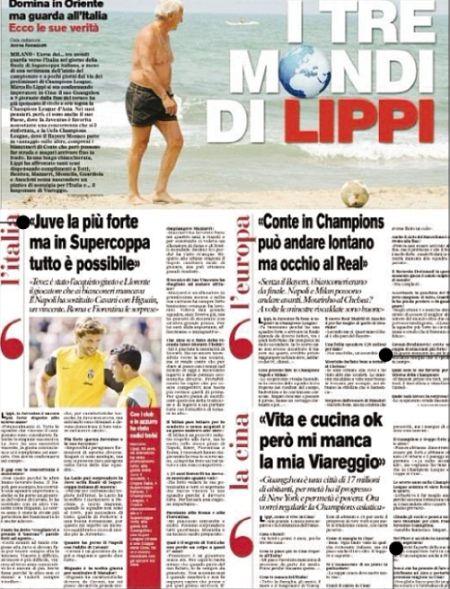 《罗马体育报》版面图