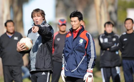 图文-中国足球守门员教练班开班 外教工作很负