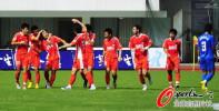 图文-[中超]长沙金德VS青岛中能 一起庆祝进球
