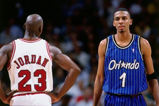 NBA老照片-乔丹接班人VS乔丹欲在23号面前玩魔术