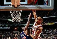NBA老照片-没有乔丹的日子皮蓬战斧爆扣大猩猩