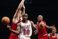 NBA老照片-昔日10号与乔丹平坐哈达威永驻迈阿密