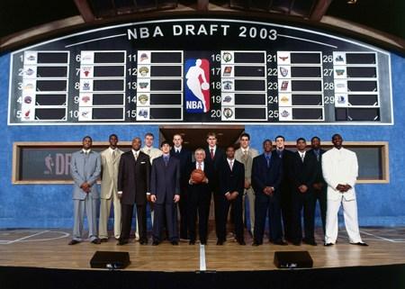 NBA老照片-2003届乐透秀全家福热火三巨头列榜