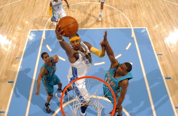 图文-[NBA]黄蜂99-105掘金安东尼飞向篮筐