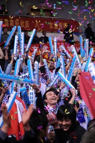 图文-[WCBA总决赛II]八一86-78辽宁观众热情高涨