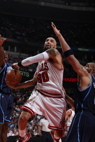 图文-[NBA常规赛]爵士VS公牛古登勇猛上篮无人能挡