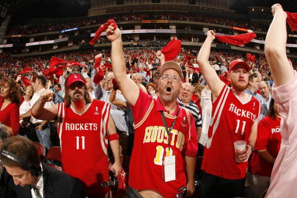 图文-[NBA季后赛]爵士vs火箭火箭球迷热情似火