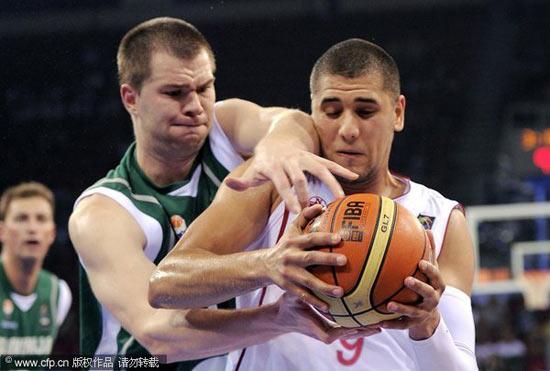 图文-[世锦赛]突尼斯56-80斯洛文尼亚紧逼防守
