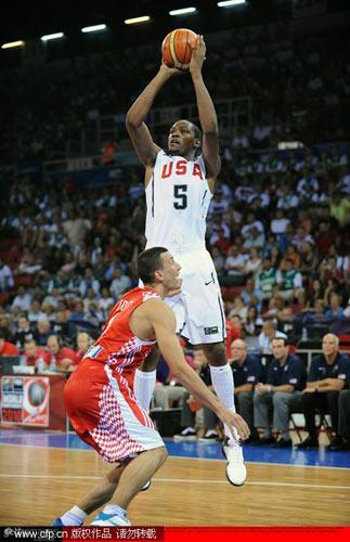 图文-[世锦赛]美国106-78克罗地亚杜兰特跳投