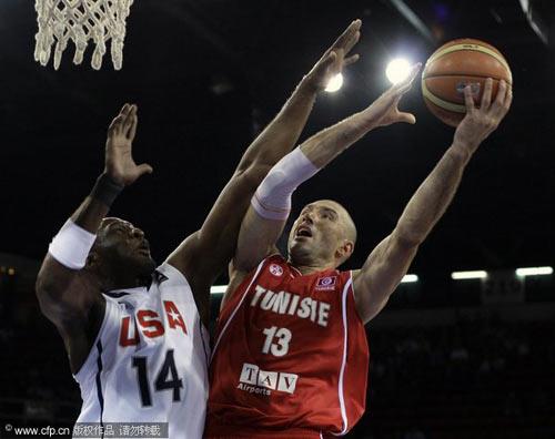 图文-[世锦赛]美国92-57突尼斯奥多姆防守