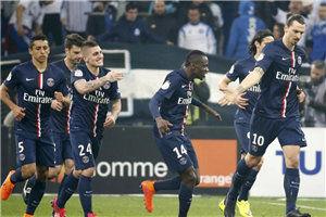 法甲-伊布造乌龙绝杀巴黎3-2逆转马赛1分领跑