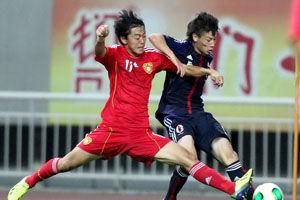 亚青赛预赛-对手乌龙送礼国青1-1日本涉险进正赛