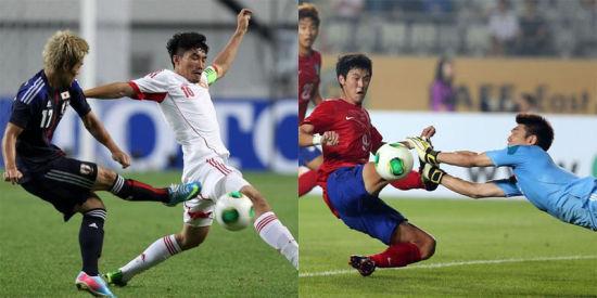 中国男足对比日韩差距不小