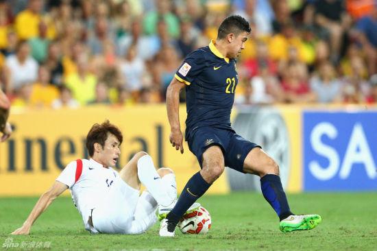 澳大利亚队将在1/4决赛遭遇中国队。