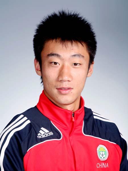 图文-中国男足奥运代表团守门员张鹭