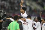 卡塔尔球员疯狂庆祝