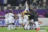 卡塔尔众将狂欢庆祝
