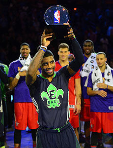 欧文砍下31+5+14职业生涯首次当选全明星赛MVP