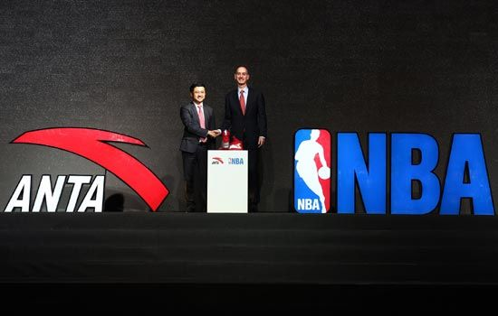 安踏正式成为NBA官方市场合作伙伴以及NBA授权商