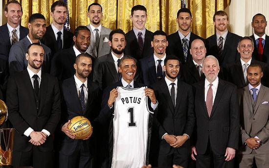 马刺的白宫行遇到了奥巴马的调侃