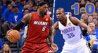 6月13日 NBA总决赛第一场 热火vs雷霆 全场录像回放