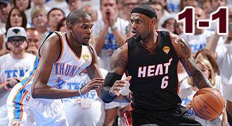 6月15日 NBA总决赛第二场 热火vs雷霆 全场录像回放