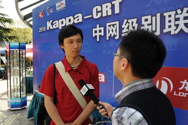 CRT让我变身成明星 赢后接受央视采访