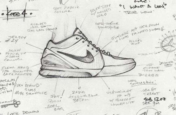 图文-科比展示全新战靴设计草图曝光