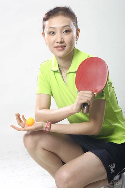 乒球美女丁颖:拍电视很辛苦科比不是乔丹第二(图)