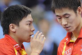 总决赛王励勤/陈�^挺进决赛中国提前锁定男双金牌