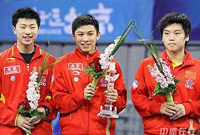 马龙独得两分郝帅擒韩主将08测试赛中国男团夺冠