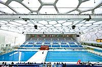 国家游泳中心竣工白天如诗如画夜晚流光溢彩(图)