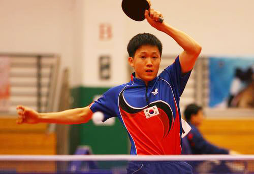 资料图片-奥运乒乓球亚洲区选手巡礼韩国尹在荣
