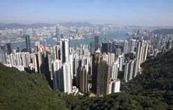 北京奥运火炬传递之香港东方之珠堪称世界商贸中心