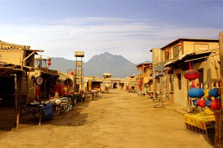 宁夏银川旅游景区:镇北堡西部影城 古朴原始粗犷荒凉