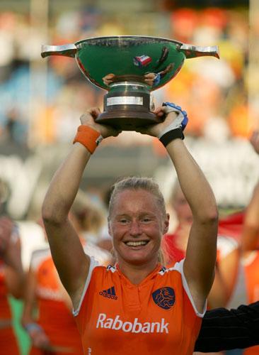 资料图片-荷兰女子曲棍球名将明克-布依尔