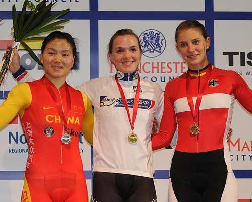 场地自行车世界杯中国夺两银英国队包揽14项冠军